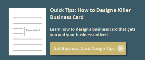 how to design a business card for small business