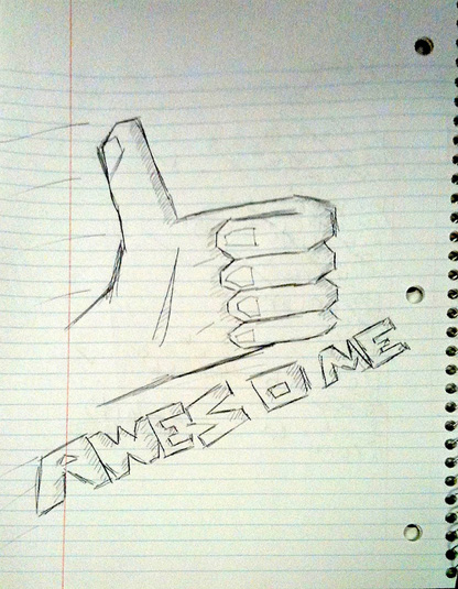 Awesome doodle