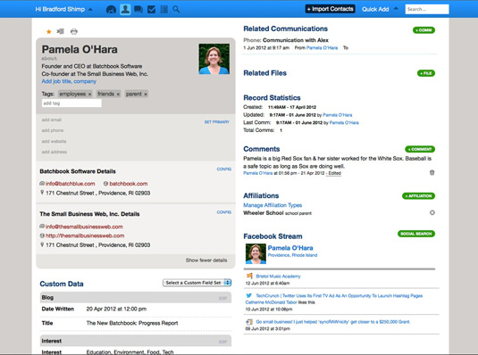 batchbook small business crm