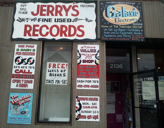 Jerry's Records small business storefront