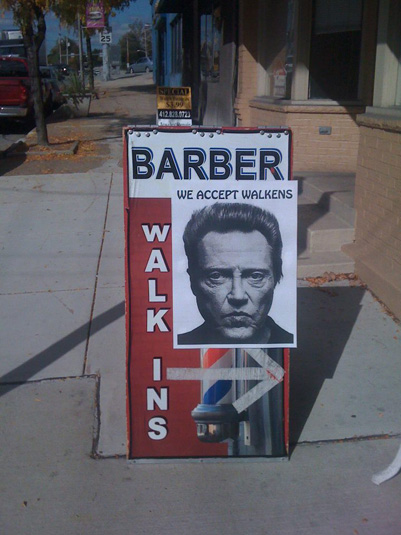 Christopher Walken, Small Business Signs
