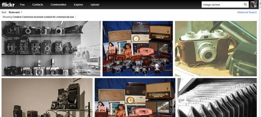 Flickr image search creative commons