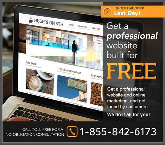 Free small business website offer