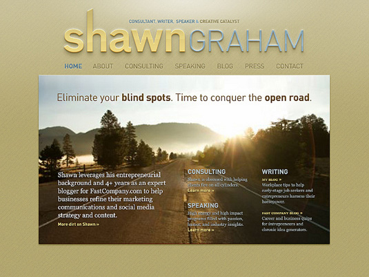 New homepage for ShawnGraham.me small business marketing website