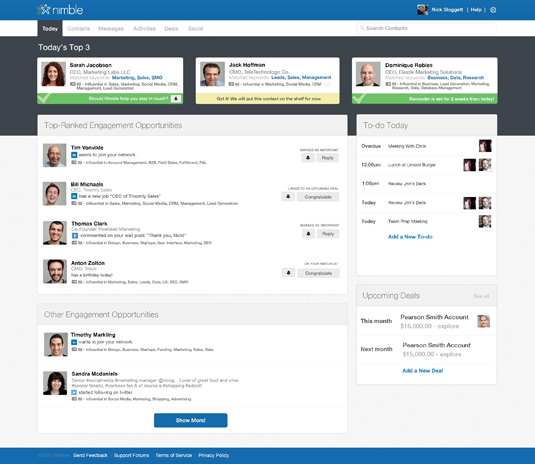 nimble small business crm