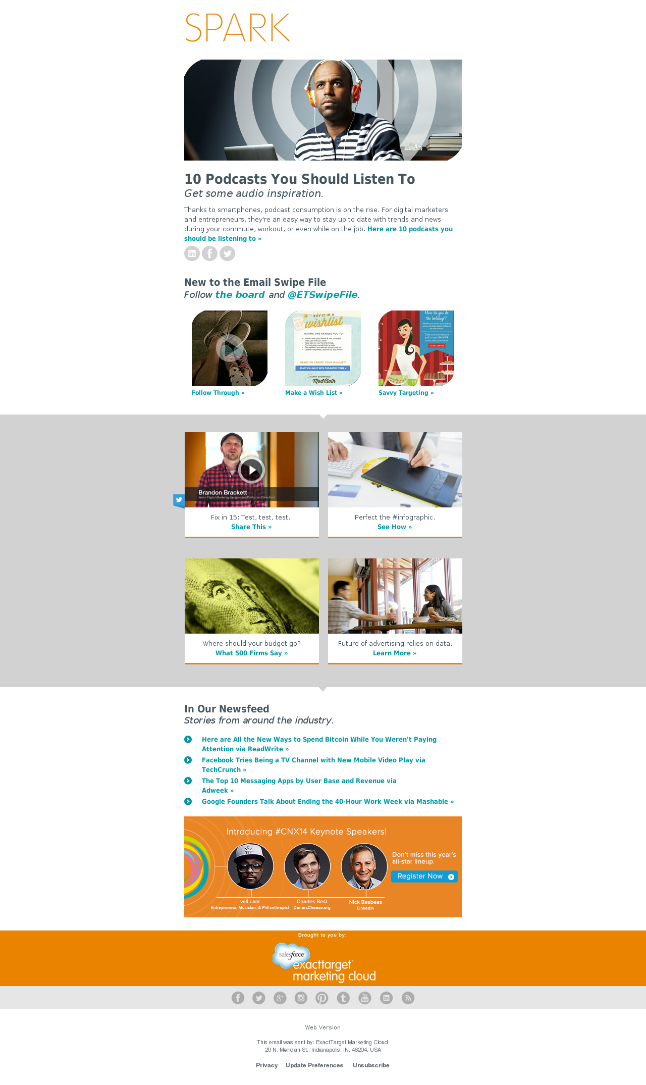 Sample B2B email marketing newsletter, ExactTarget