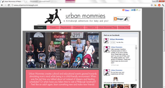 Urban Mommies Pittsburgh website after