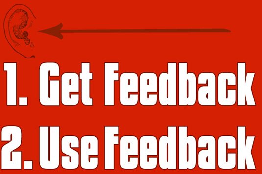 Get customer feedback and use customer feedback illustration